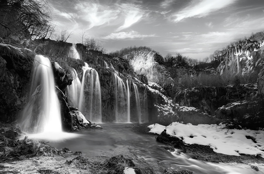 Photograph Plitvice Lakes BW by Ivan Prebeg on 500px