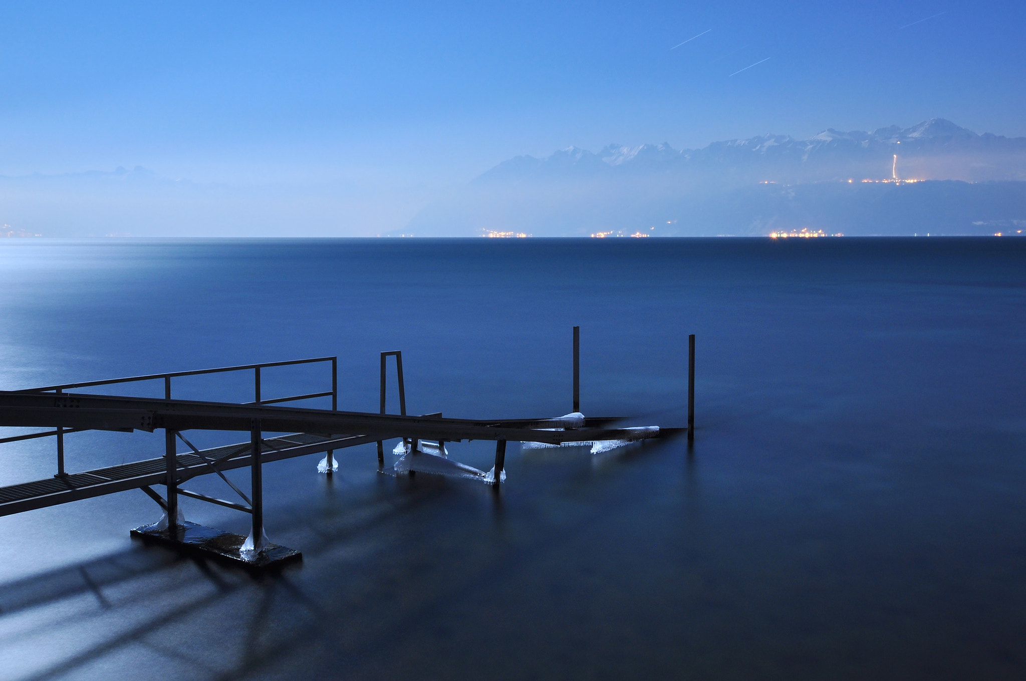 Photograph Moonlit Pier by Maurice Starke on 500px