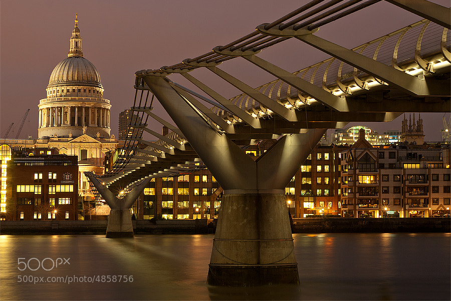 Photograph Millennium Bridge by Aubrey Stoll on 500px