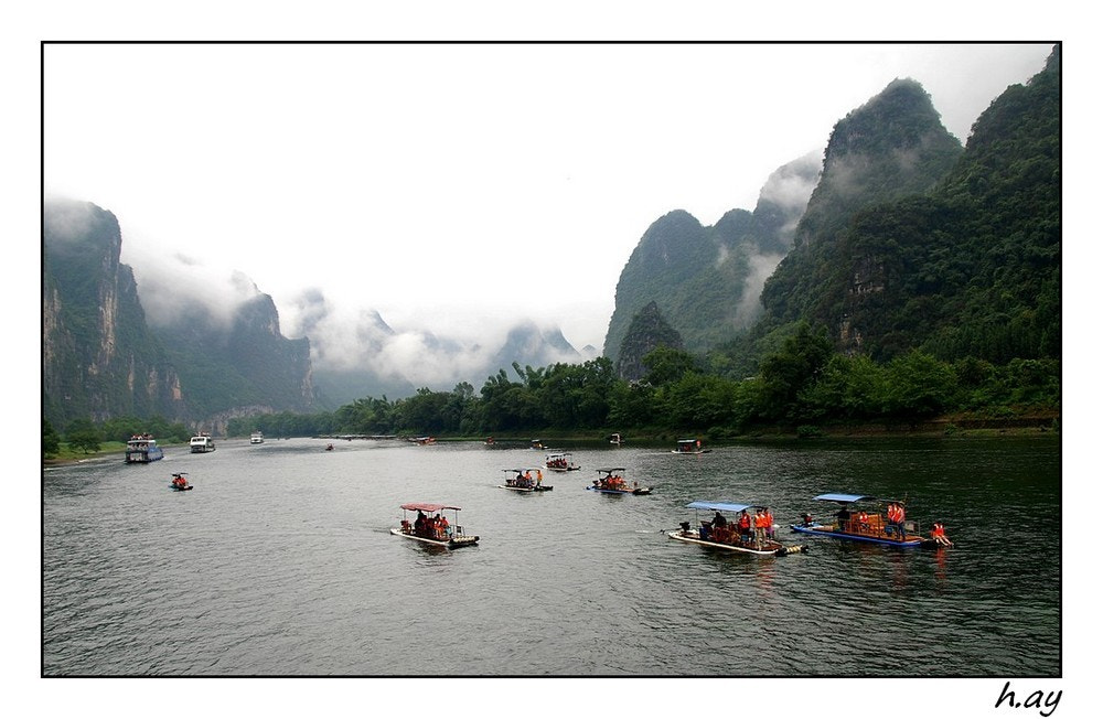 Photograph The Li River cruise from Guilin to Yangshuo by HUSEYIN AY on 500px