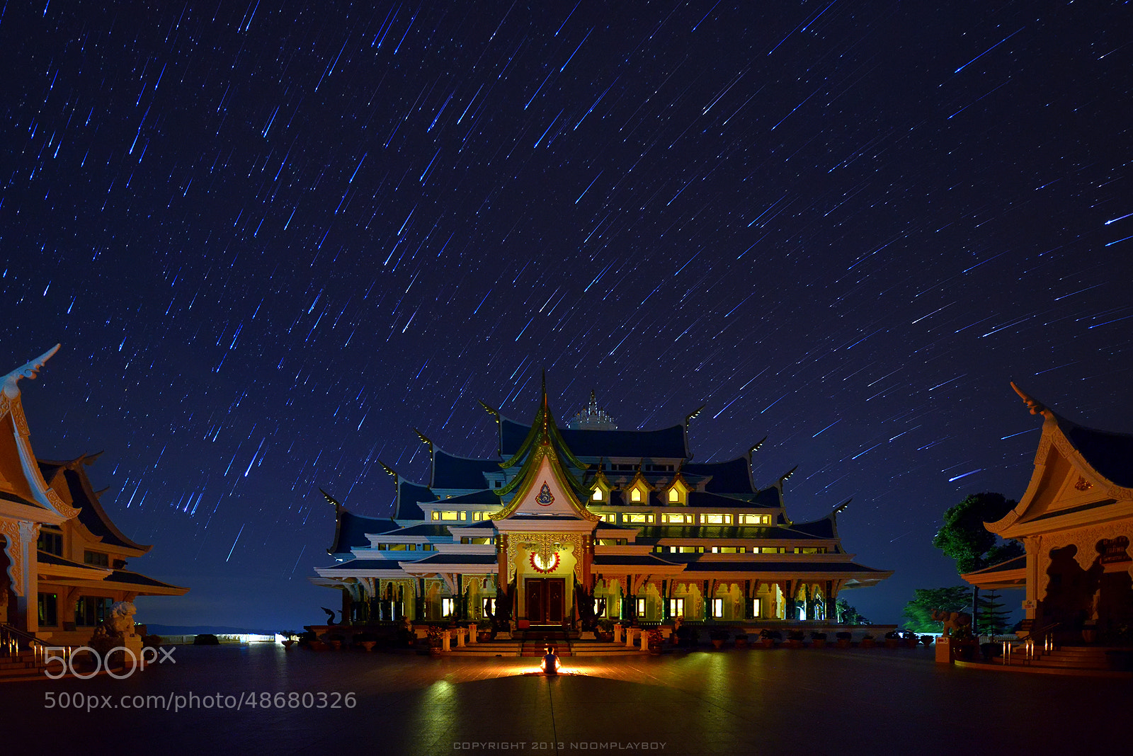 Photograph Startrails : Wat Pa-Phu-Kon at Thailand by noomplayboy  on 500px