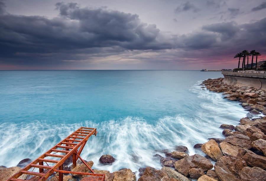 Photograph Sunset in Larvotto @ Monaco (French Riviera) by Eric Rousset on 500px