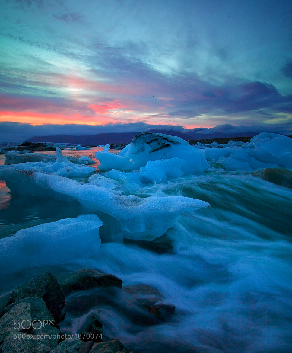 Photograph Ice - Sunrise in Iceland by Kevin Raber on 500px