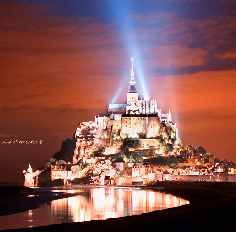 Photograph Mont Saint-Michel at night by wind of renovatio on 500px