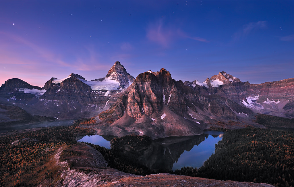 Photograph Dawn at Mt. Assiniboine by zhonghua meng on 500px