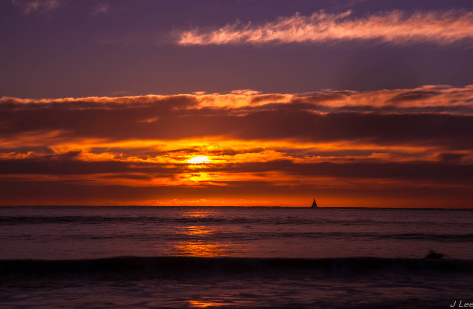 Photograph Sailing at Dawn by James Lee on 500px
