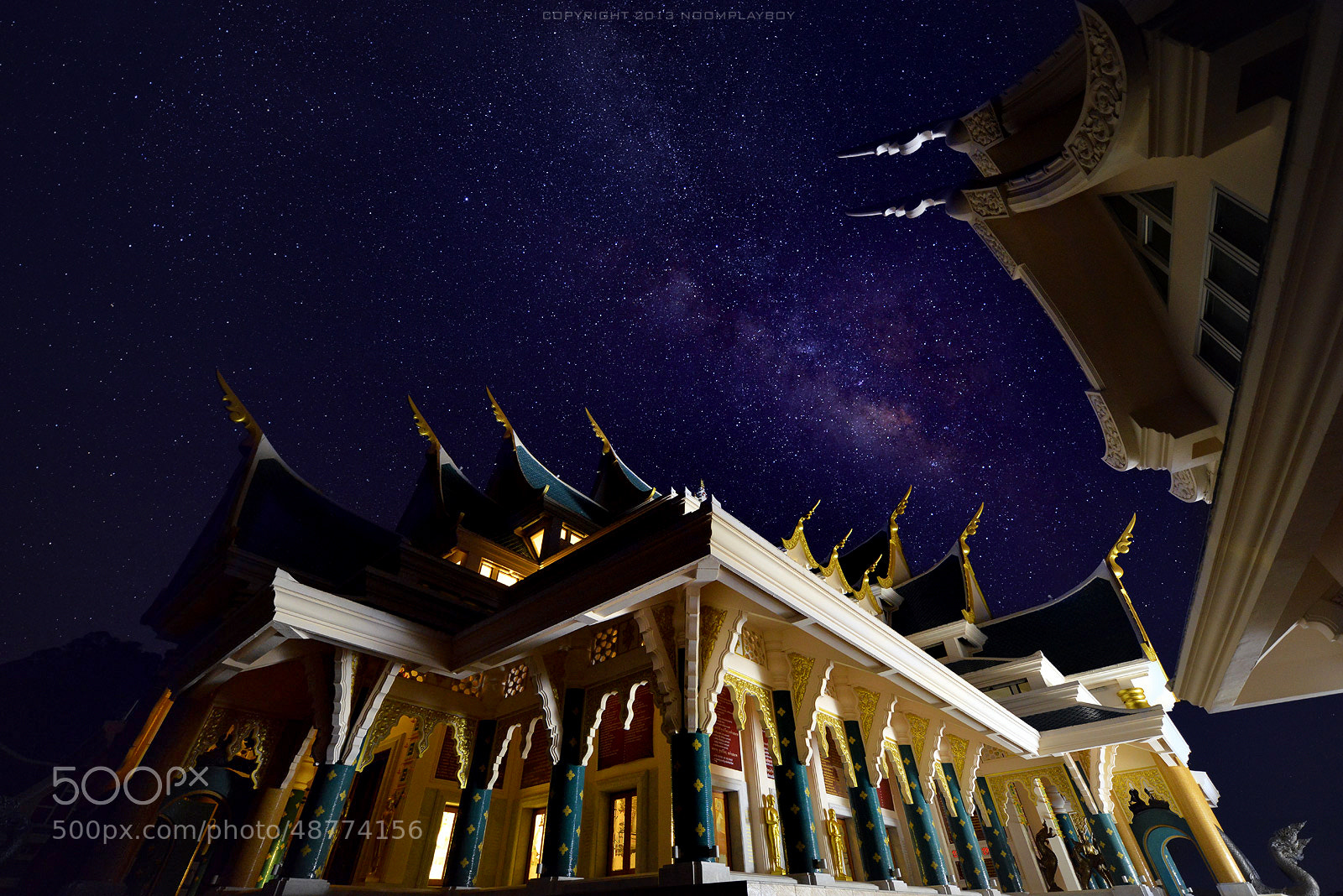 Photograph Milky Way : Wat Pa-Phu-Kon at Thailand by noomplayboy  on 500px