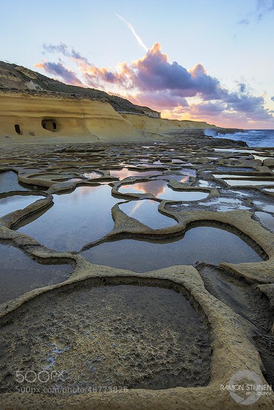 Photograph Gozo Saltpans sunset by Ramon Stijnen on 500px