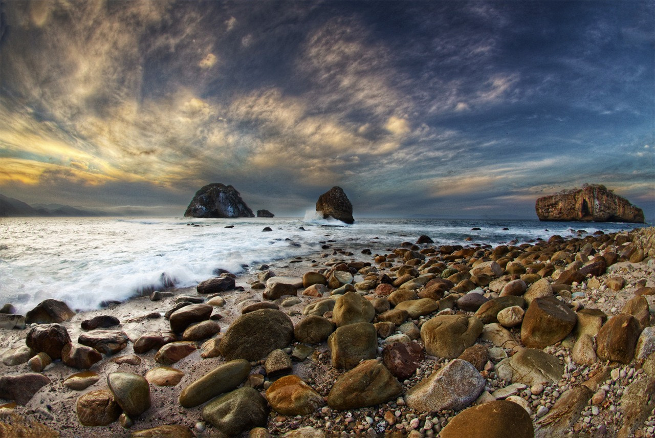 Photograph Los Arcos Sunset HDR by Shanti Gilbert on 500px