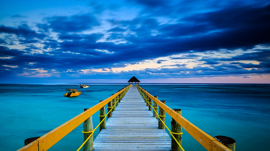 Sunset at trestle in Fiji by Haiwei Hu on 500px.com
