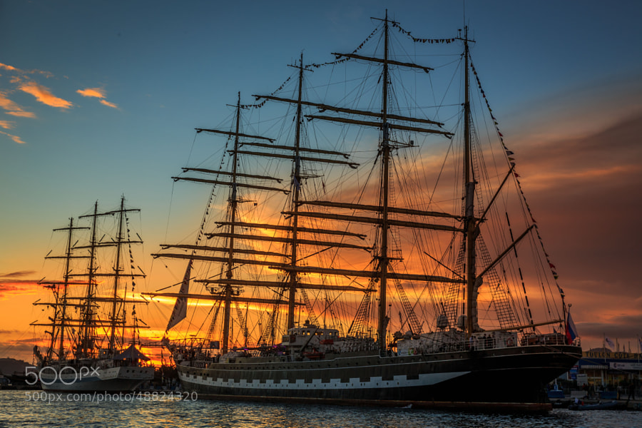 Photograph Tall Ship Regatta by Alexandre Minard on 500px