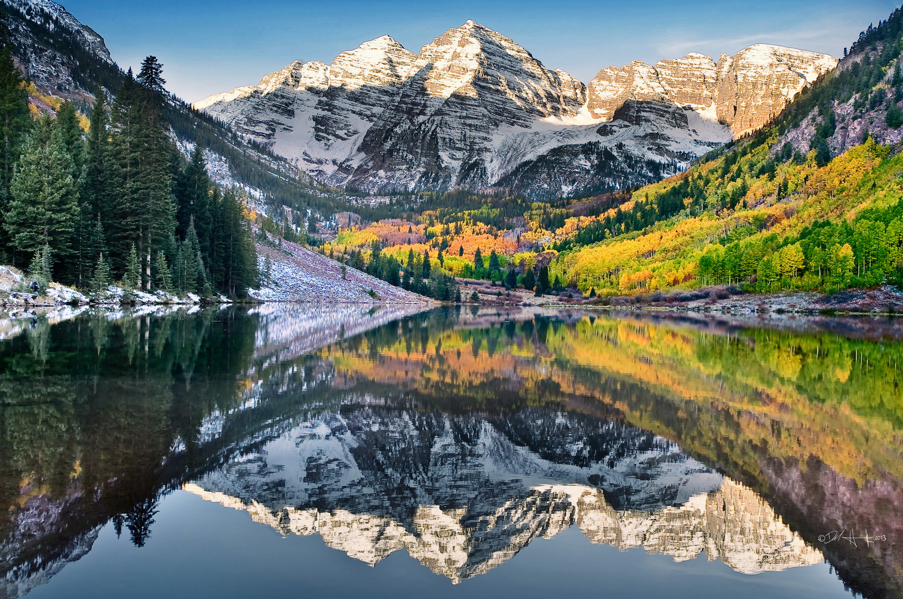 Photograph Maroon Bells by Del  Higgins on 500px