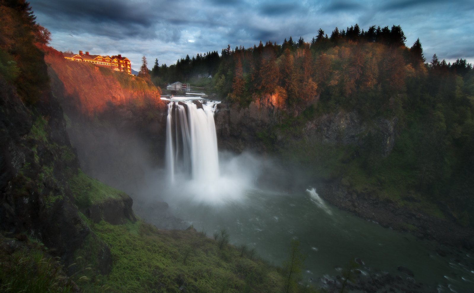 Photograph Last Light Snoqualmie Falls by Jay D. on 500px