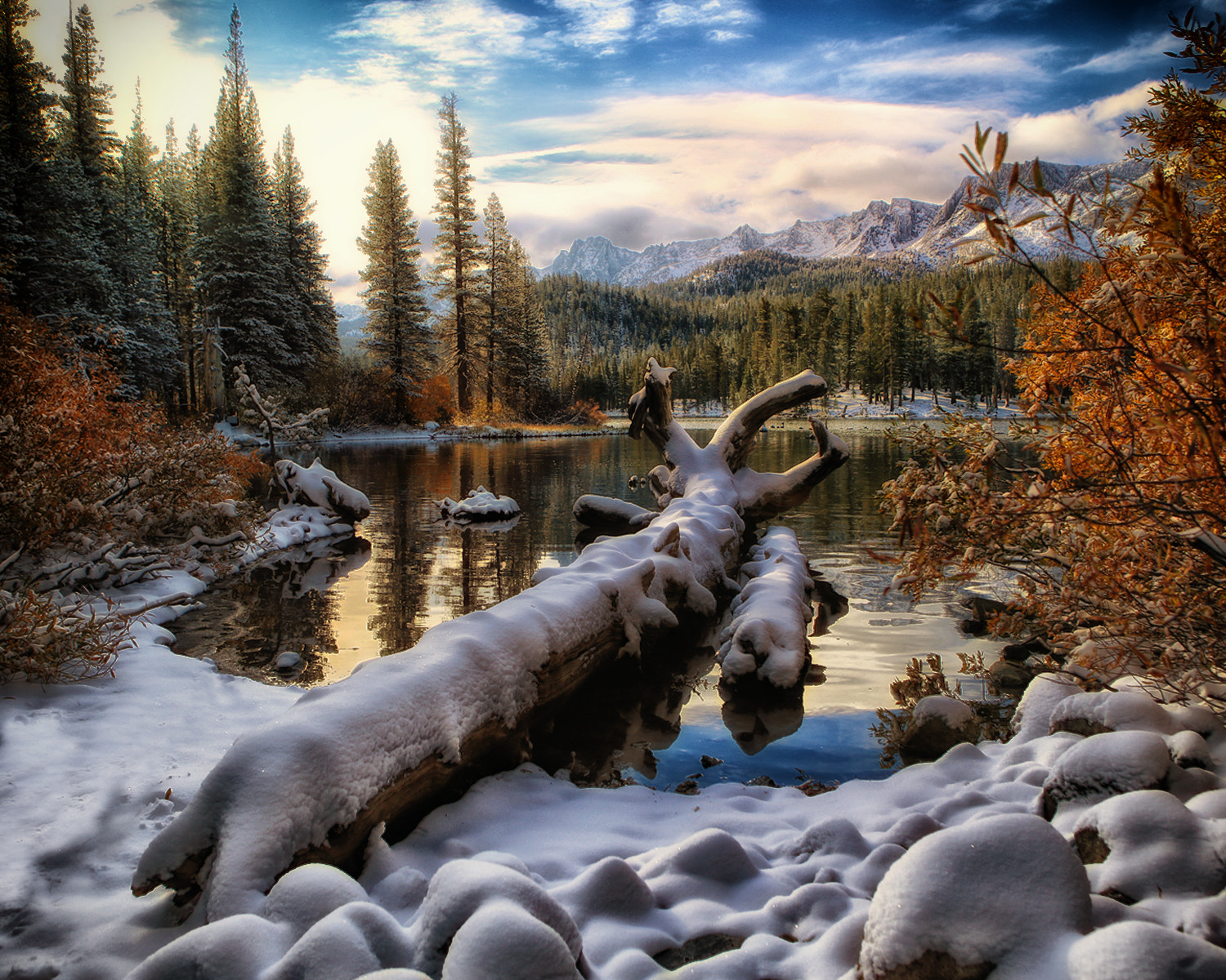 Photograph October Snow in the Sierras by Jack Azua on 500px