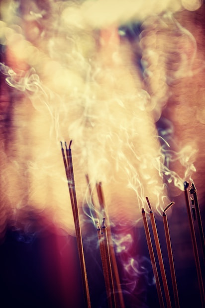 Photograph Burning joss sticks (Incense) by Mads Monsen on 500px