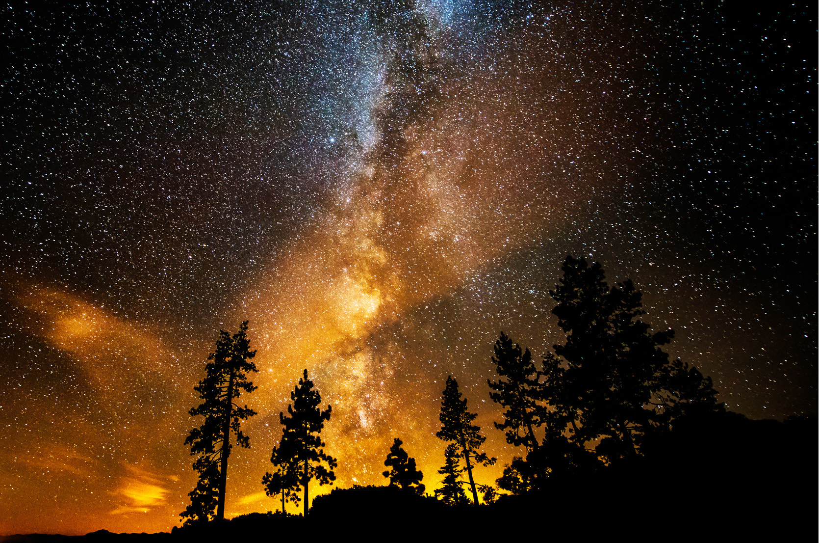 Photograph Fire in the Night Sky by Bill Currier on 500px