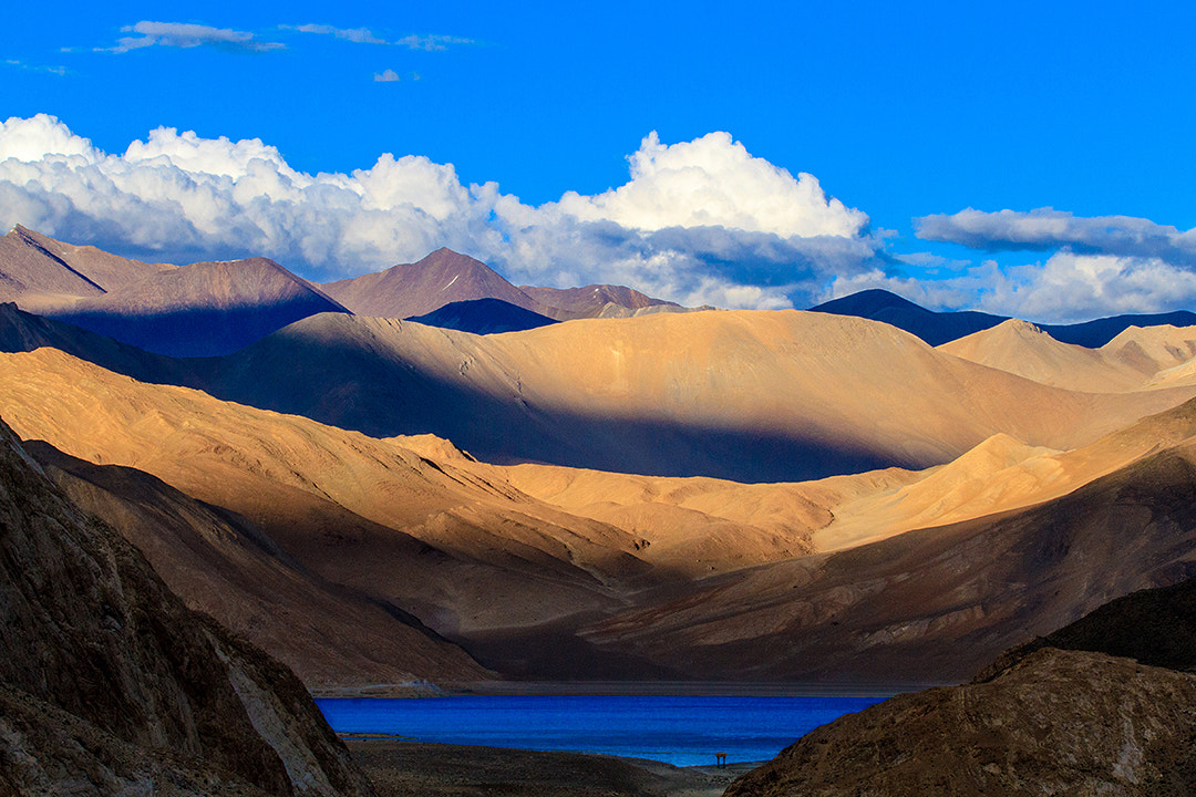 Photograph First Look of Pangong Tso... by Amod Sane on 500px