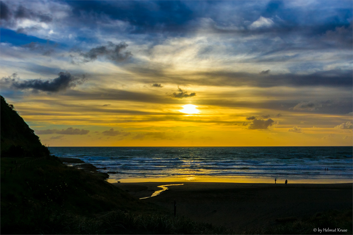Photograph Glowing Sky during sunset at the westcoast, New Zealand by Helmut Kruse on 500px