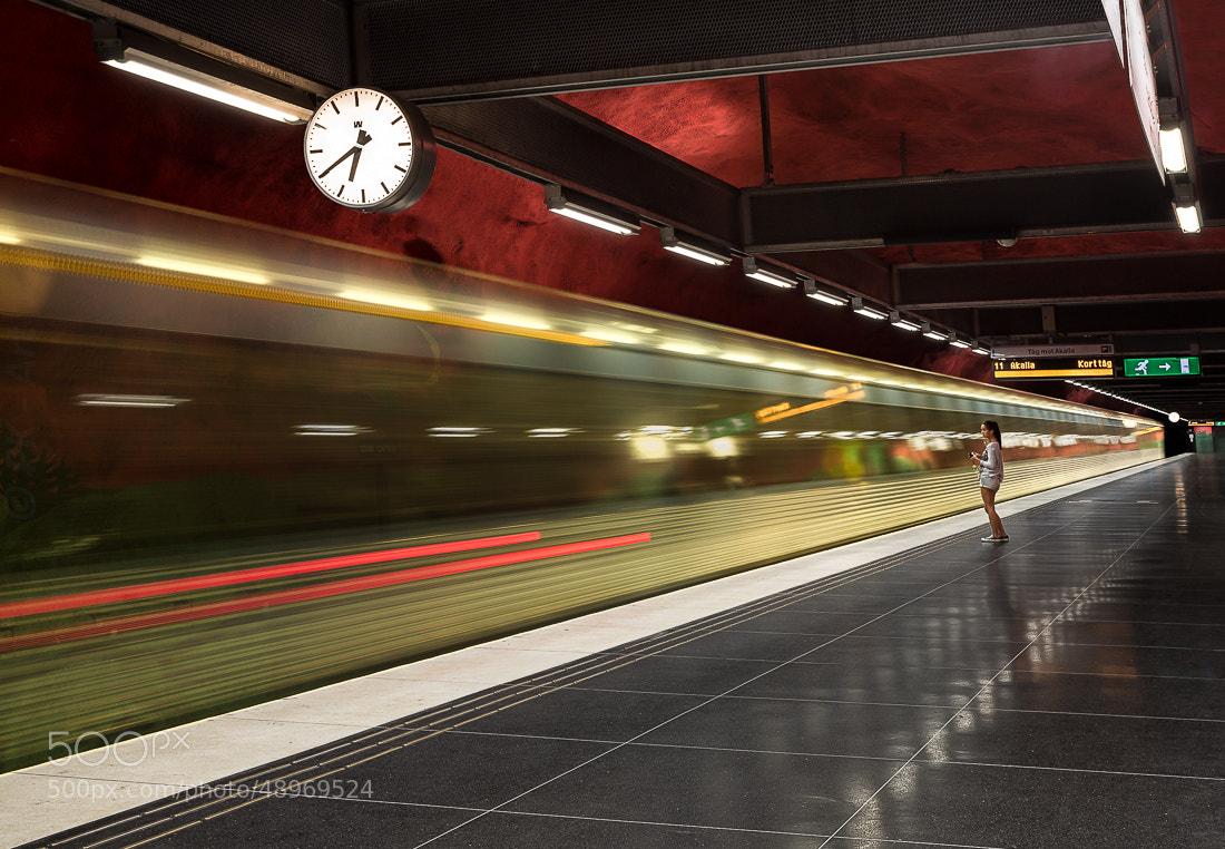 Photograph Waiting - Tunnelbana XIX by PK °Art on 500px
