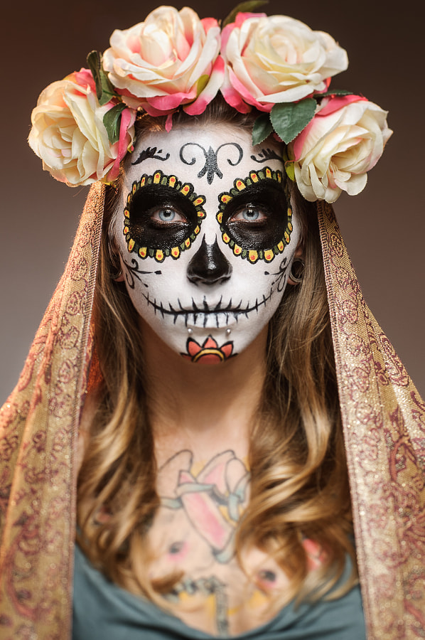 Photograph Candy Skull Make-Up by Jacek Woźniak on 500px