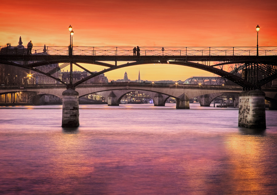 Close up sunset Seine