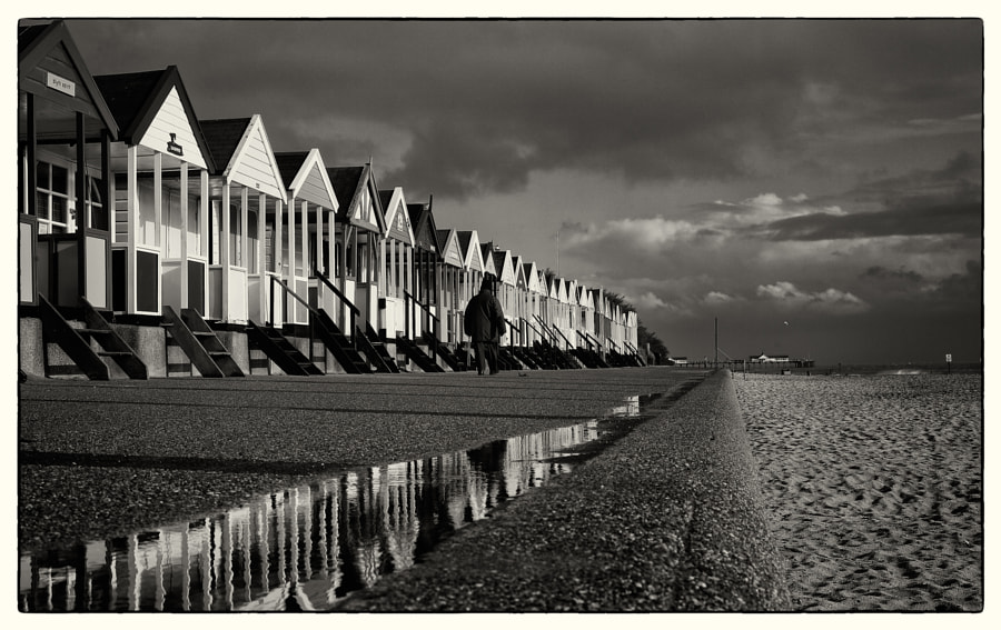 Beach Hut Reflections, Southwold