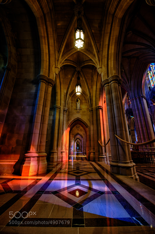 Photograph Washington Cathedral Aisle by Jason Barnes on 500px
