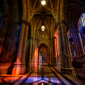 Washington Cathedral Aisle by Jason Barnes (JasonBarnes)) on 500px.com