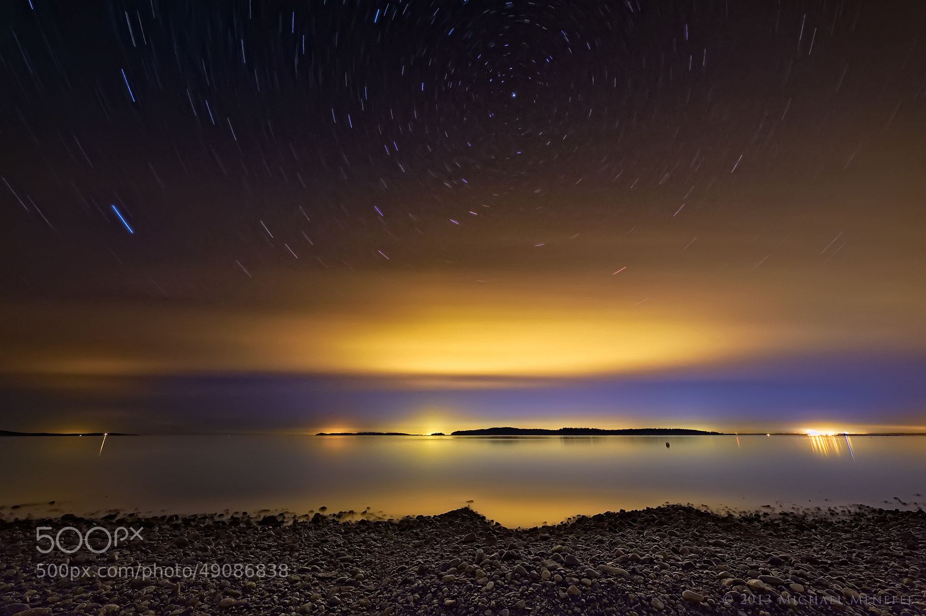 Photograph Celestial Spinning Above the San Juan Islands by Michael Menefee on 500px