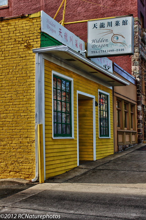 """""""Hidden Dragon""""     HDR image of old downtown area."""