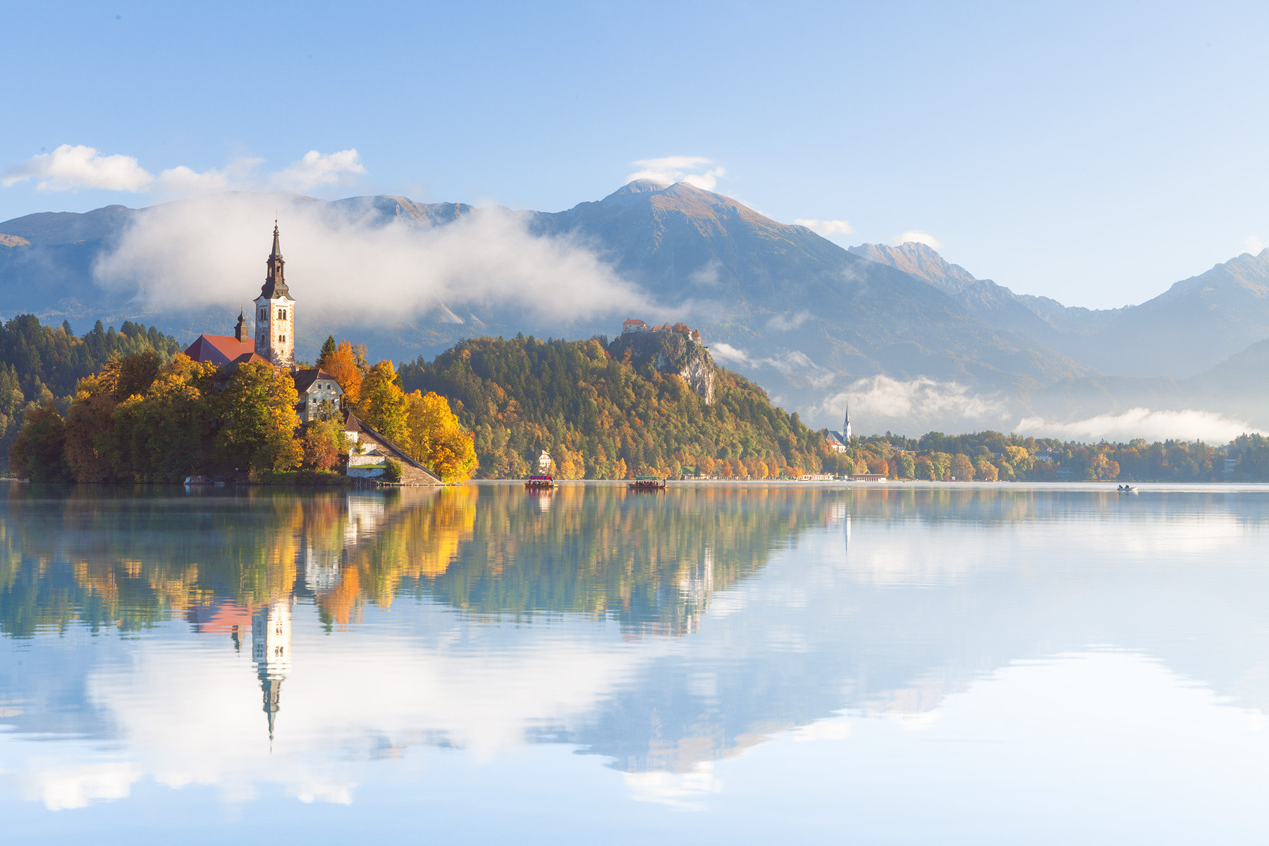 Photograph morning mist in bled by Reinhold Samonigg on 500px