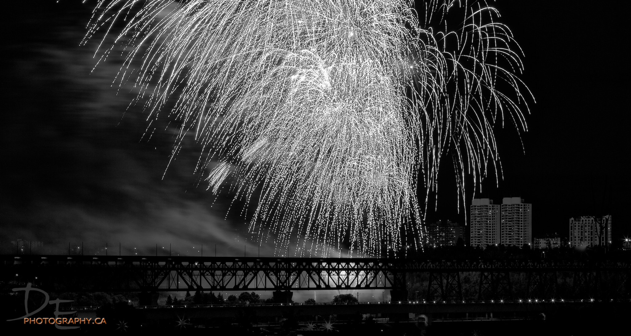 Photograph Fireworks in B&W by Darcy Evans on 500px
