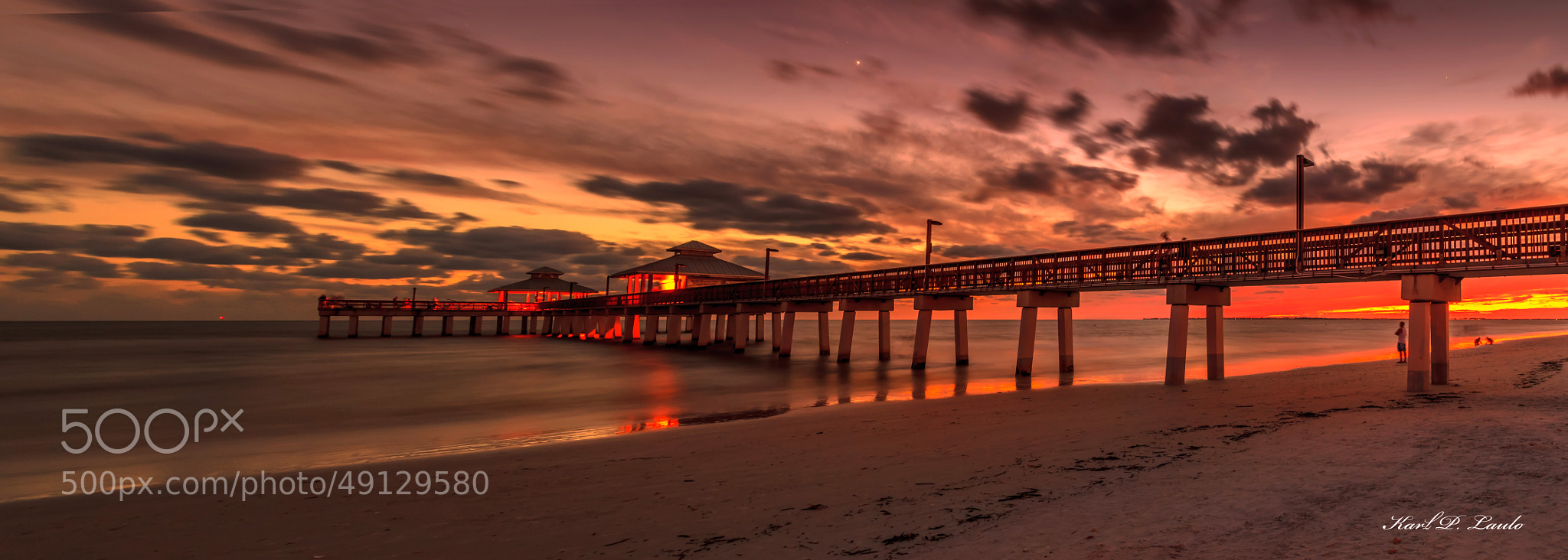 Photograph fishing pier fort myers beach by karl p laulo for Fort myers beach fishing pier