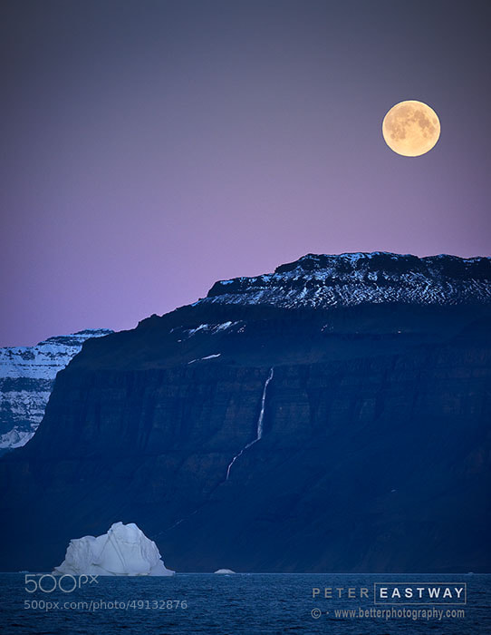 Photograph Moonrise, Scoresby Sund, Greenland by Peter Eastway on 500px