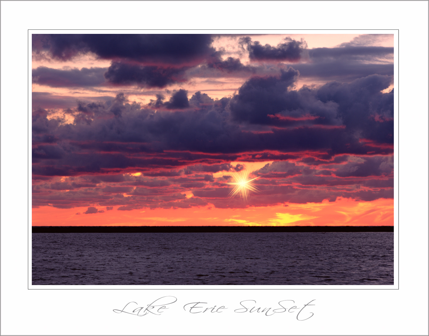 Photograph lake erie sunset by parminder singh on 500px