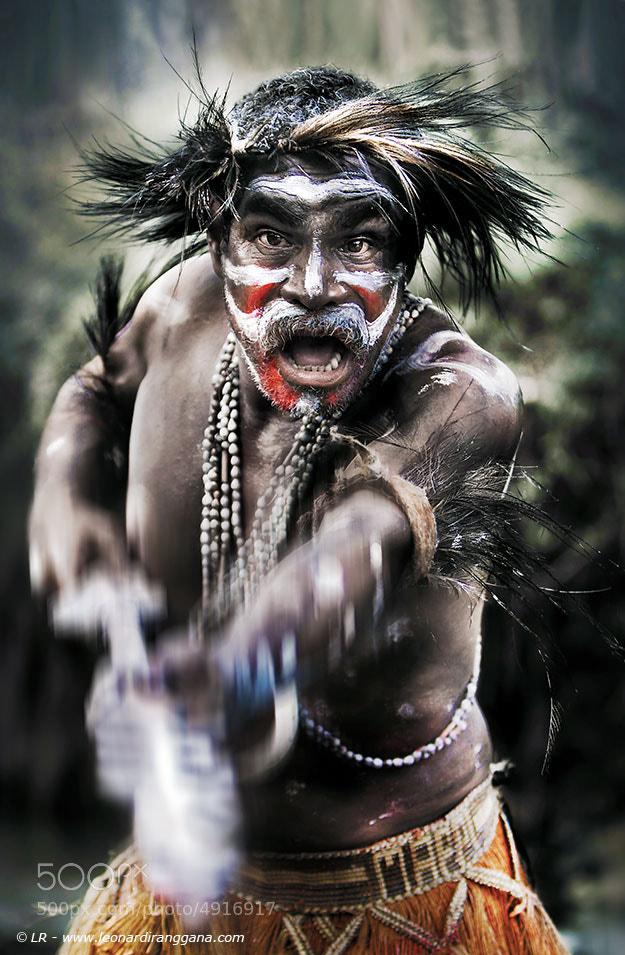 Photograph Asmat Warrior by Leonardi Ranggana on 500px