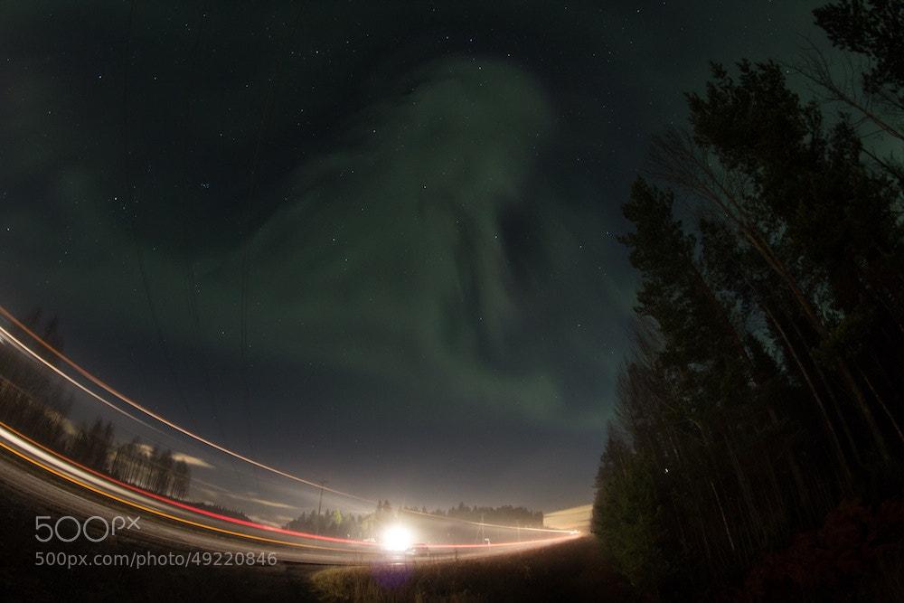 Photograph Aurora borealis by Mikko Vehkomäki on 500px