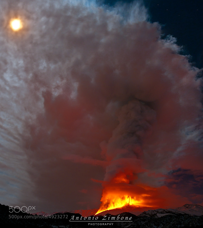Photograph Ice Fire and Moon by Antonio Zimbone on 500px