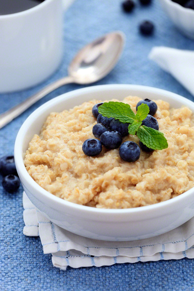 Photograph Oatmeal with Blueberries by Nicole S. Young on 500px