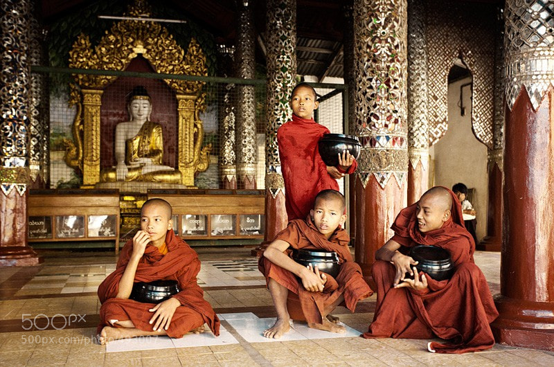 Photograph Little Monks and Buddha by Vera Golosova on 500px