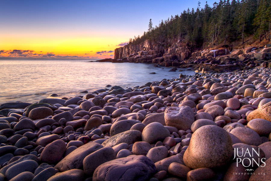 Photograph First Light of 2012, Acadia National Park ME by Juan Pons on 500px