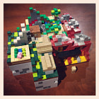 Постер, плакат: This is what 3 LEGO Minecraft sets look like assembled together http:amzn to17uAhkp aff