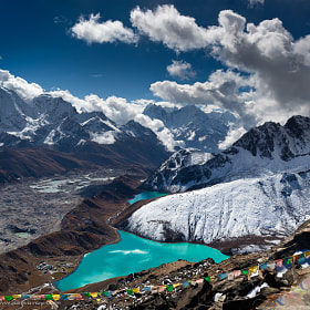 View from the Gokyo Peak (5,357 m) by Anton Jankovoy (jankovoy)) on 500px.com