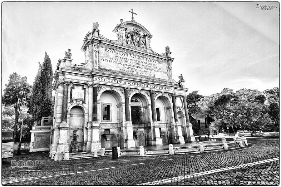 Fontana dell'Acqua Paola - Roma by Daniele Lembo (DanieleLembo)) on 500px.com