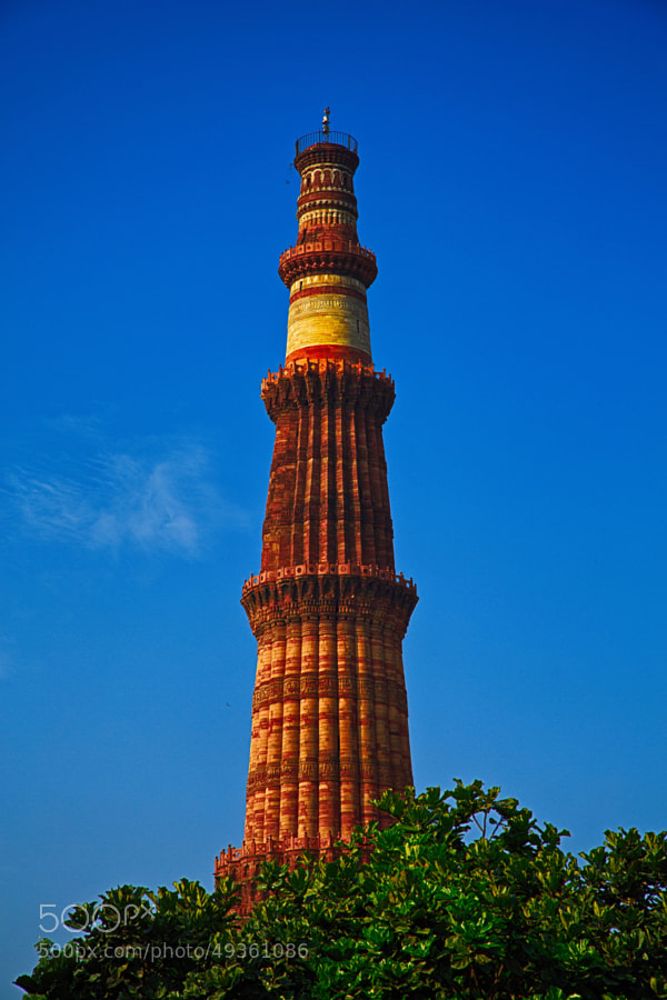 Digital HDR color image of Qutub Minar monument (Delhi, India)