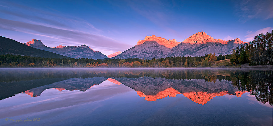 Wedge Pond Sunrise by Mei Xu on 500px.com