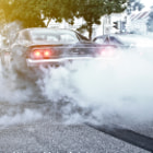 Постер, плакат: Dodge Charger RT City Burnout