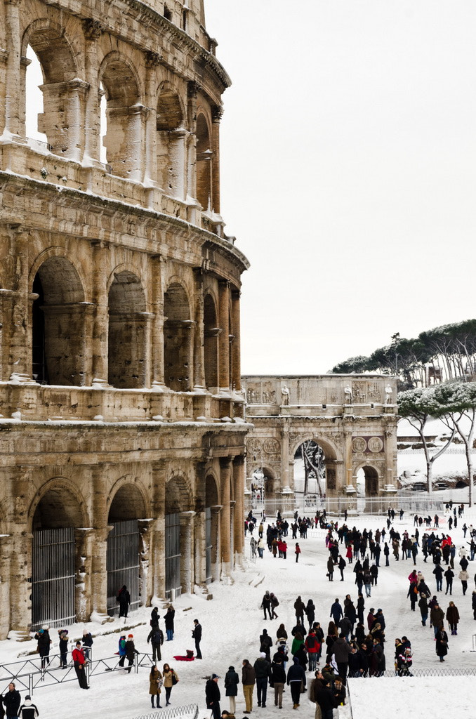Photograph Colosseum in snow by Adriano Olivotti on 500px