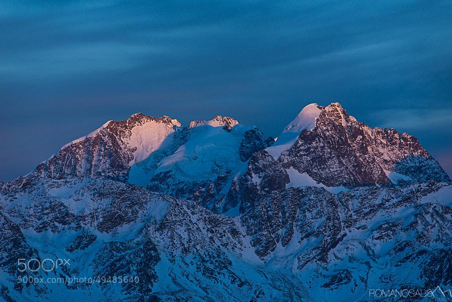 Last light on Bernina