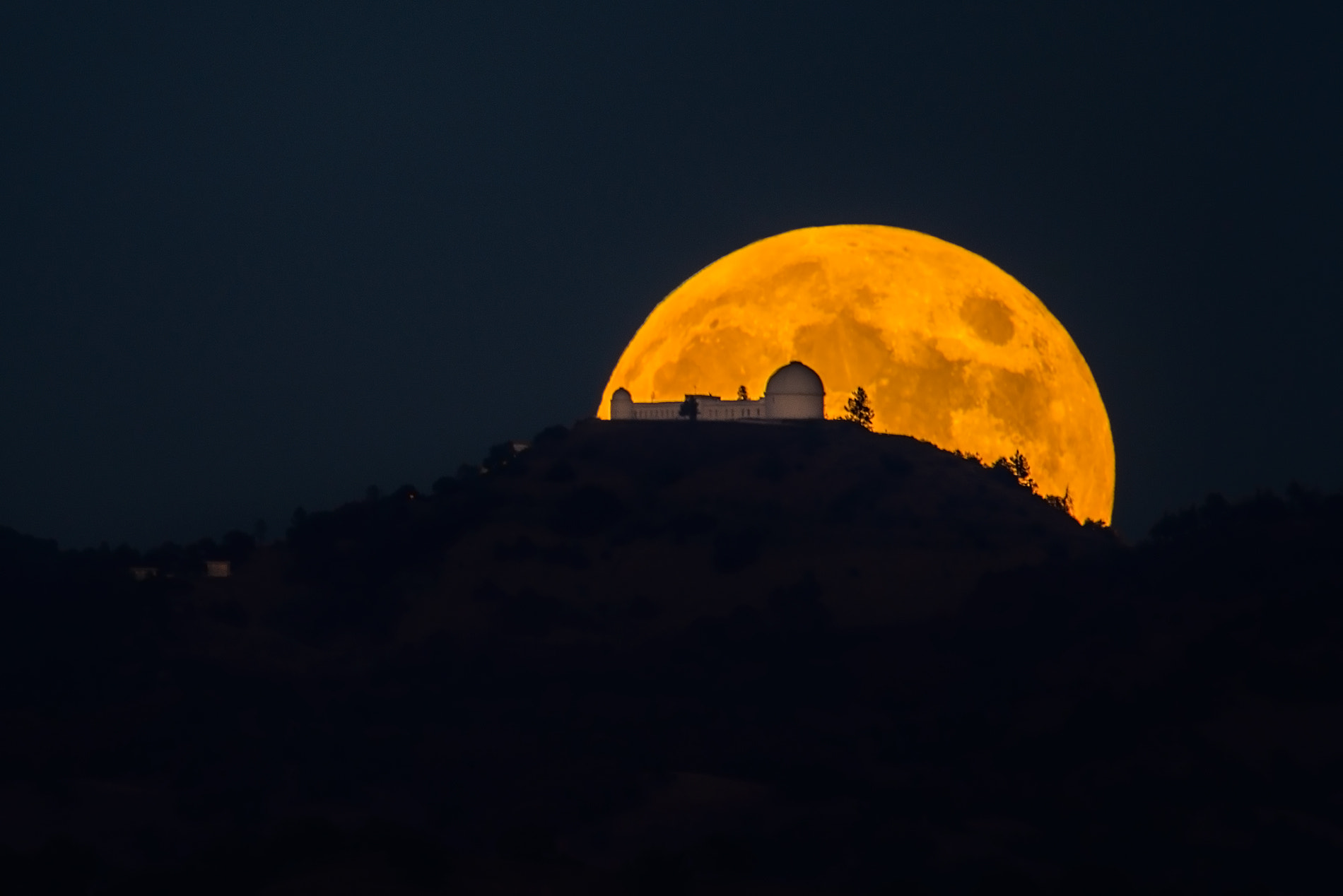 Photograph Full Moon & Lick Observatory by Tom Post on 500px